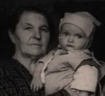 Слева — Лысенко (Половик) Анна Харитоновна, справа — Лысенко Георгий Тимофеевич. Фото сделано летом 1956 г. в Гомеле